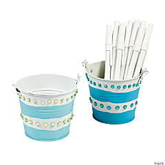 DIY Painted Pails Idea
