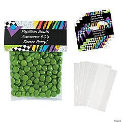 DIY Personalized Awesome 80s Cellophane Favor Bags