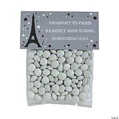 DIY Personalized Paris Cellophane Favor Bags