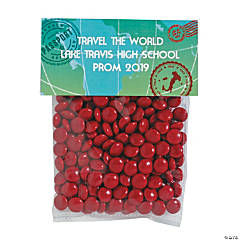 DIY Personalized World Traveler Cellophane Favor Bags