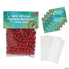 DIY Personalized World Traveler Cellophane Favor Bags