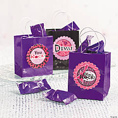 DIY Rock Star Diva Favor Tag Idea