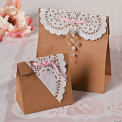 DIY Shabby Chic Favor Bags Idea