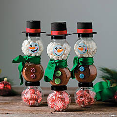 DIY Snowman Cocoa Jars Idea
