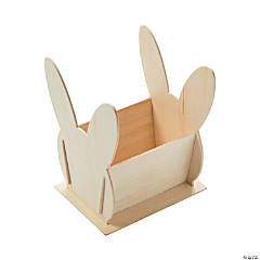 DIY Unfinished Wood Bunny Baskets