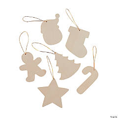 DIY Unfinished Wood Christmas Ornaments
