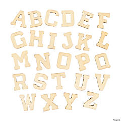 DIY Unfinished Wood Letters