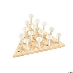 DIY Unfinished Wood Peg Games