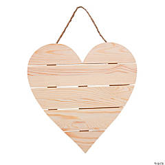 DIY Unfinished Wood Plank Heart Sign