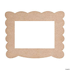 DIY Unfinished Wood Scalloped Frame