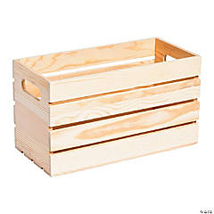 DIY Unfinished Wood Slat Crate