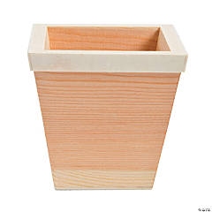 DIY Unfinished Wood Small Square Pots