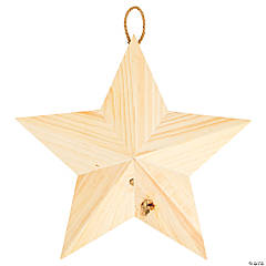 DIY Unfinished Wood Star