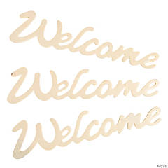 DIY Unfinished Wood Welcome Signs