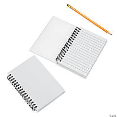 DIY White Canvas Spiral Notebooks