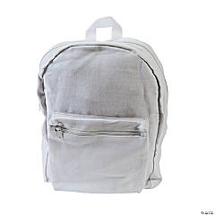 DIY White Zipper Backpacks