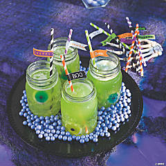 DIY Wicked Party Straw Tags Idea
