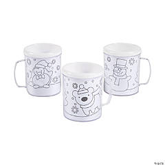 DIY Winter Mugs