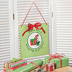 DIY Wrapping Room Door Hanger Idea