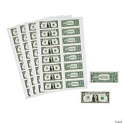 Dollar Bill Sticker Sheets