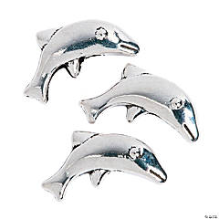 Dolphin Spacer Beads - 11mm