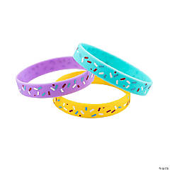 Donut Party Rubber Bracelets