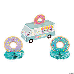 Donut Party Truck Centerpiece Set