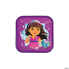 Dora & Friends Square Dessert Plates