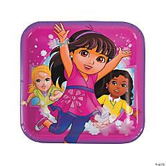 Dora & Friends Square Paper Dinner Plates