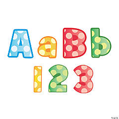 Dot Bulletin Board Letters & Numbers
