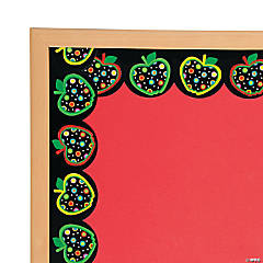 Dots on Black Apples Bulletin Board Borders