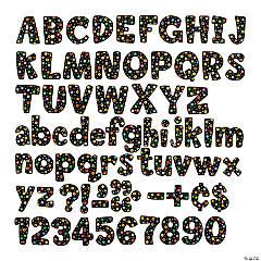 Dots on Black Designer Letters