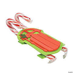 Double Candy Cane Sled Craft Kit