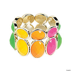 Double Oval Neon Bead Bracelet Craft Kit