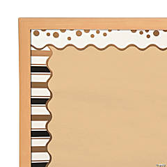 Double-Sided Bulletin Board Borders Scalloped Edge Gold Coins