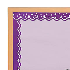 Double-Sided Bulletin Board Borders Scalloped Edge Happy Grape