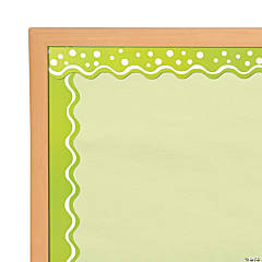 Double-Sided Bulletin Board Borders Scalloped Edge Happy Line