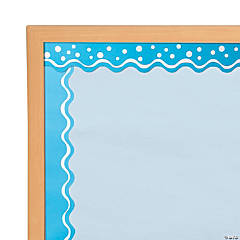 Double-Sided Bulletin Board Borders Scalloped Edge Happy Pool Blue