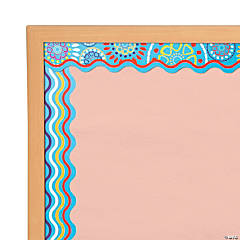 Double-Sided Bulletin Board Borders Scalloped Edge Moroccan Turquoise
