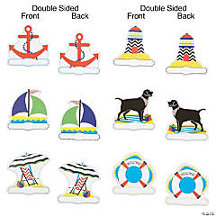 Double-Sided Chevron Nautical Cutouts