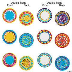 Double-Sided Moroccan Design Bulletin Board Cutouts