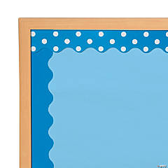 Double-Sided Solid & Polka Dot Bulletin Board Borders - Blue