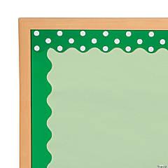 Double-Sided Solid & Polka Dot Bulletin Board Borders - Green