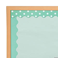 Double-Sided Solid & Polka Dot Bulletin Board Borders - Mint