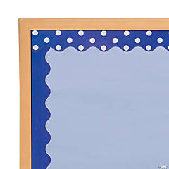 Double-Sided Solid & Polka Dot Bulletin Board Borders - Purple