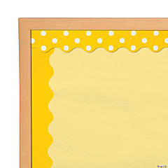 Double-Sided Solid & Polka Dot Bulletin Board Borders - Yellow