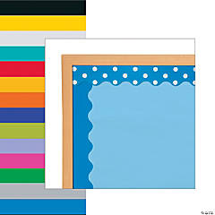 Double-Sided Solid & Polka Dot Bulletin Board Borders