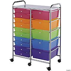 Double Storage Cart W/15 Drawers