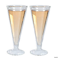 Double Wall Champagne Flutes
