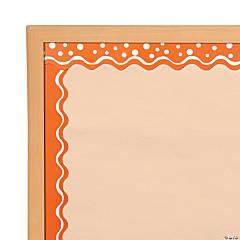 Doubled-Sided Bulletin Board Borders Scalloped Edge Happy Tangerine
